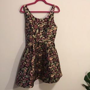 Free people metallic floral dress sz m